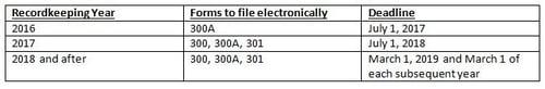 OSHA Injury Recordkeeping 250+