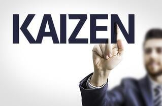 Business man pointing to transparent board with text Kaizen.jpeg